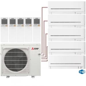 Мульти сплит система Mitsubishi Electric MSZ-AP15VGх3+MSZ-AP20VG+MSZ-AP35VGK/MXZ-5E102VA