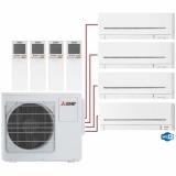 Мульти сплит система на 4 комнаты Mitsubishi Electric MSZ-AP15VGх3+MSZ-AP35VGK/MXZ-4E72VA