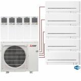 Мульти сплит система на 5 комнат Mitsubishi Electric MSZ-AP15VGх4 +MSZ-AP50VGK/MXZ-5E102VA