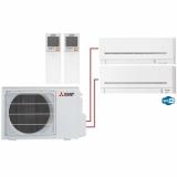 Мульти сплит система на 2 комнаты Mitsubishi Electric MSZ-AP15VG+MSZ-AP20VG/MXZ-2D42VA