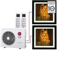 Мульти система на 2 комнаты LG MA09AH1+MA12AH1/MU2M17
