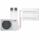 Мульти сплит система на 2 комнаты Mitsubishi Electric MSZ-AP15VG+MSZ-AP20VG/MXZ-2D33VA