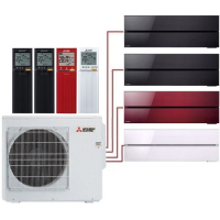 Мульти сплит система Mitsubishi Electric MSZ-LN25VGBх2+MSZ-LN25VGR+MSZ-LN35VGV/MXZ-4E83VA