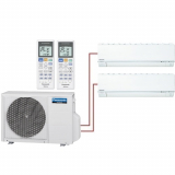 Мульти система на 2 комнаты Panasonic CS-E7RKDW+CS-E9RKDW/CU-2E15PBD