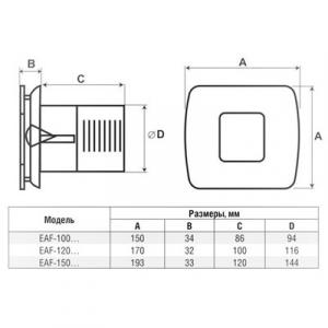 Вытяжной вентилятор Electrolux EAF-100T